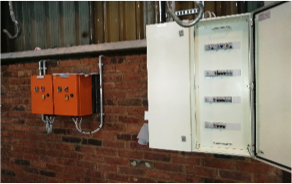 Exterior power box to factory / plant